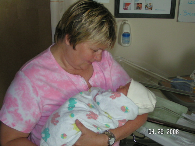 New grandmother Pamela DeVault