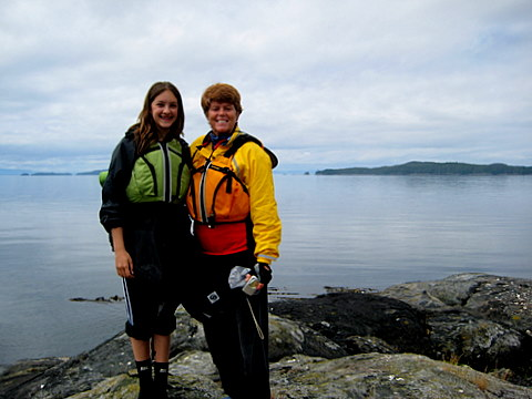 McKenna and Trish in their kayak gear
